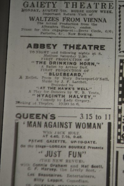 Advertisement for <i>Bluebeard</i>, July 1933
