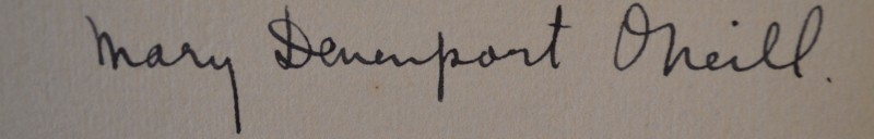 Mary Devenport O'Neill's signature