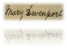 Mary Devenport's signature