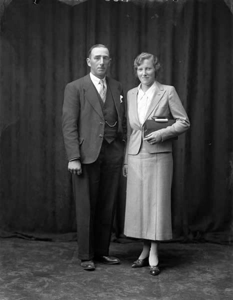 Mary Devenport O'Neill with her husband, Joseph O'Neill